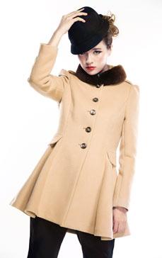 中长款修身女大衣