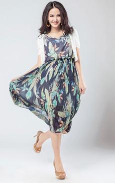 阿莱雪纺连衣裙